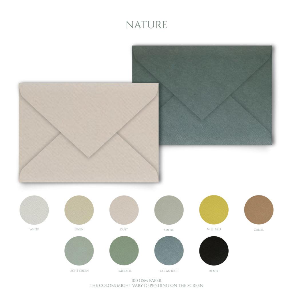 NATURE Signature Envelopes Papelosophie