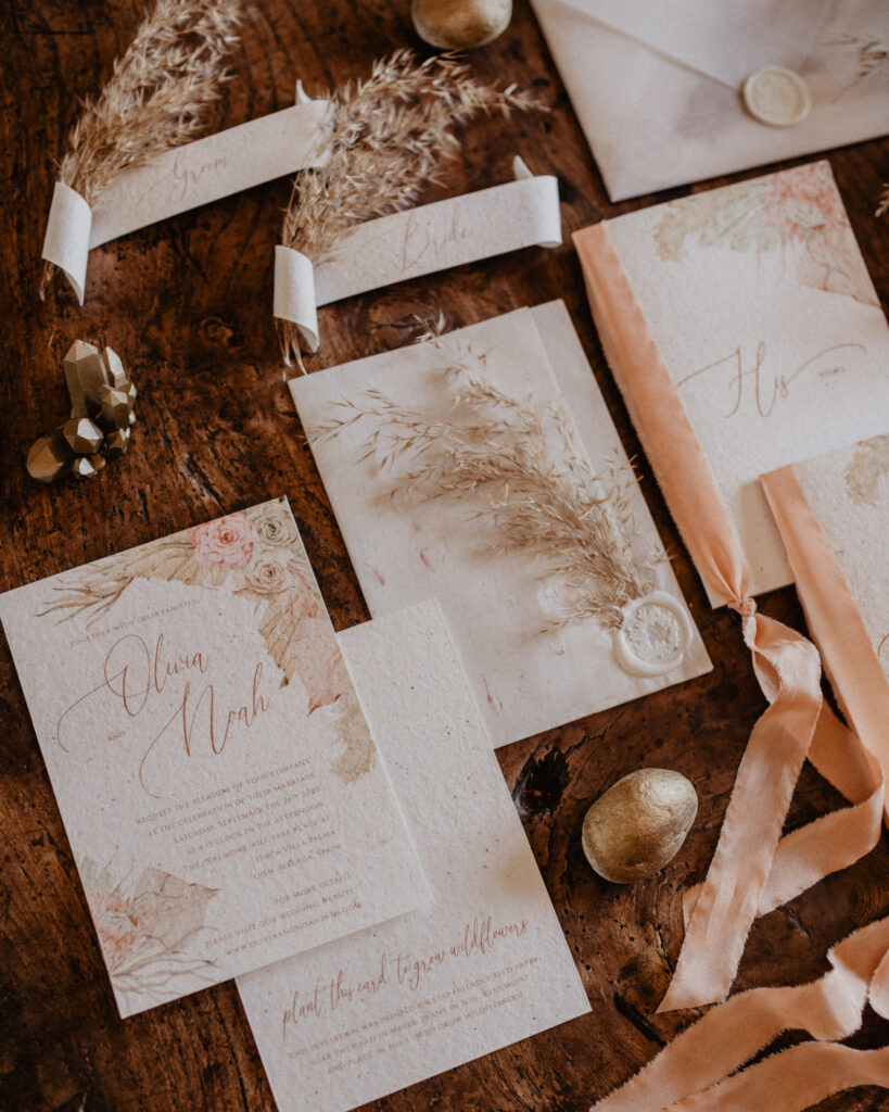 Eco-Friendly wedding stationery by Papelosophie